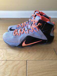 official photos 40bee 72d02 Details about Nike Lebron 12 XII Easter - Aluminum Sunset Glow Black - Sz.  12 - Lebron James