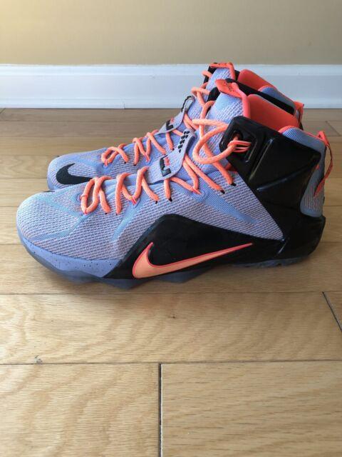 2916a5ebe27ac Nike Lebron 12 XII Easter - Aluminum Sunset Glow Black - Sz. 12 - Lebron  James