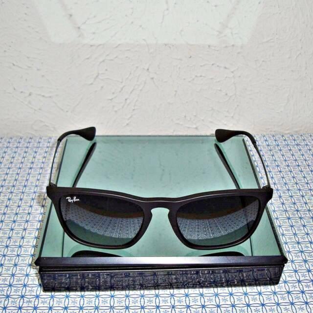 New Ray Ban Rb4187 622 8g 54 Men S Chris Black Highstreet Square Sunglasses Ebay