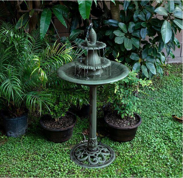3-Tier Outdoor Patio Yard Bird Decor Pedestal Water Fountain Features w// Pump US