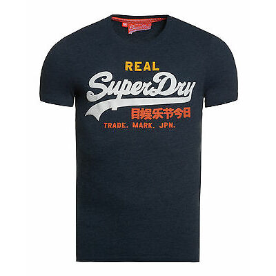 Superdry Hombre Camiseta Vintage Logo Tri Entry Midnight Marga