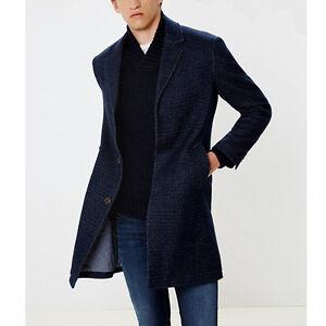 promo code 86920 6468e Dettagli su Cappotto uomo Pepe Jeans Castle Taglie L XL Blu lana uomo man  PM401251 slim fit