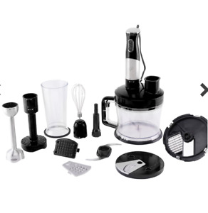 NEW, Wolfgang Puck 7-in-1 Immersion Blender w/ 12-Cup Food Processor in Black