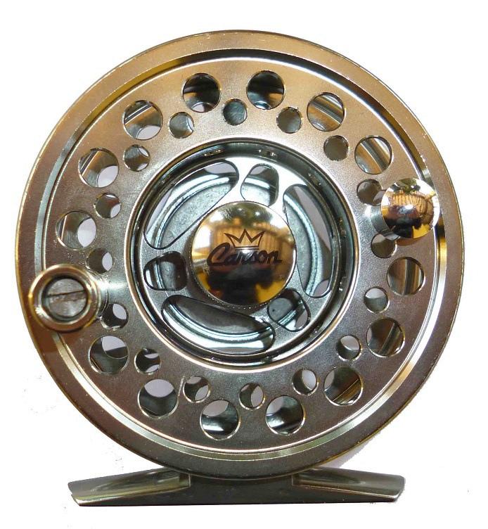 Mulinello in alluminio pesca a mosca per code 56 trossoa temolo torrente fiume tp