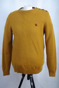 Round cotton P387 Xl Jumper Wool Neck Mustard Jack amp; Yellow Size 12 Jones wXrXR8q