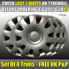 "Volkswagen VW Golf 15"" 15 Inch Wheel Trims Hub Cap Cover Trims X 4 Set New Qty 4"