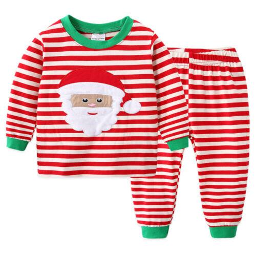 Outfit Nightwear Sleepwear Details about  /Children Boys Girls Christmas  Print Pyjamas Set