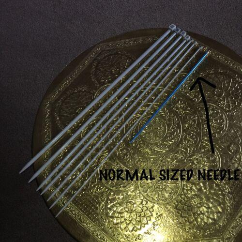 4 mm Extra Long Aiguilles à tricoter 59 cm de long Tailles 10 mm