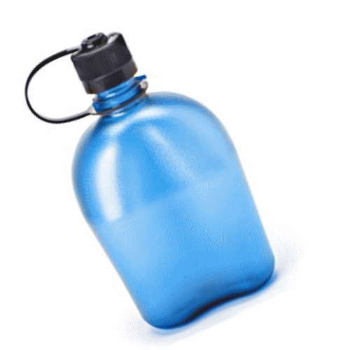 Nalgene Oasis Everyday Canteen Blue Black cap 38mm Bottle