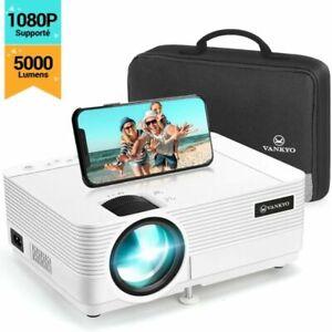 Videoprojecteur 1080P Full HD 1280*720P Video Projecteur Portable 5000 Lumens FR