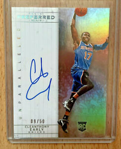 Cleanthony Early Auto ✨ 2014-15 Panini Preferred RC SP /50 Knicks Rookie Card