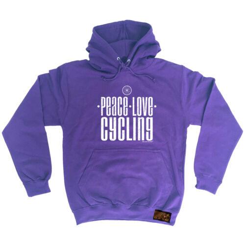Sudadera con Capucha Con Capucha Divertido Novedad De Ciclismo Con Capucha Top-Paz Love ciclismo