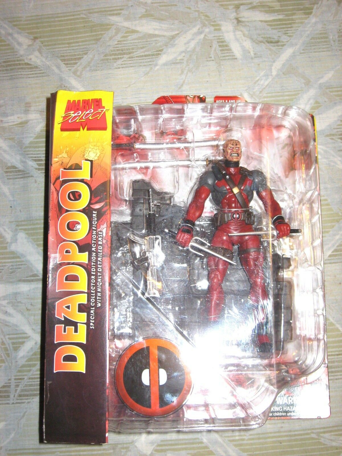 MARVEL SELECT DEADPOOL UNMASKED VARIANT NIB  UNOPENED MINT FIGURE  RARE MOVIE