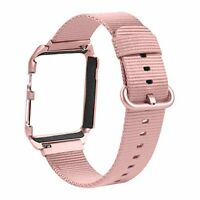 Woven Nylon Band With Protective Case For Apple Watch 38mm Series 1,2 Rose