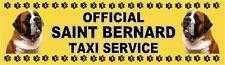 SAINT BERNARD OFFICIAL TAXI SERVICE Dog Car Sticker  By Starprint