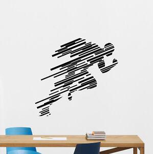 runner wall decal running sport gym fitness vinyl sticker