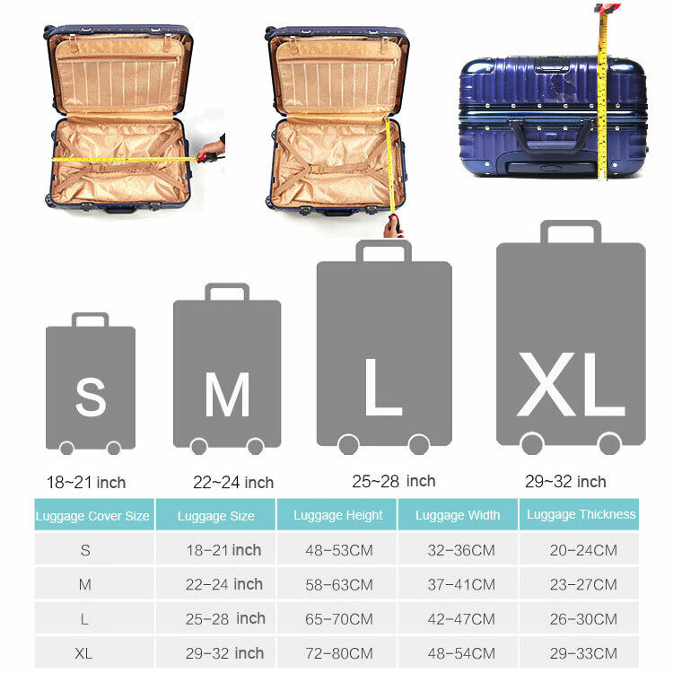 SCOCICI Luggage Bag Cover Squared Notebook Page Lesson Notes Student Print Elastic Suitcase Protective Cover Travel Luggage Case Cover