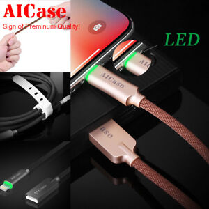 AICase-Smart-LED-Light-Lightning-Cable-Fast-Charger-For-Apple-iPhone-X-8-7-Plus