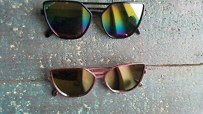 WunderschöNen Sonnenbrille Katzenauge Cat Eye Geometrisch Verspiegelt Rosa Schwarz Bunt