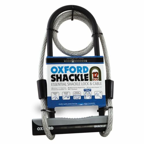 OXFORD Oxford Shackle12 Duo U-Lock /& 1200mm Lockmate 1.2m