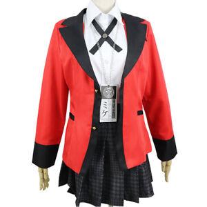 Kakegurui Jabami Yumeko Meari Kirari Suzui Ryota Cosplay Costume School Suit New