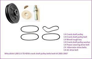 Mitsubishi L200 Pick Up B40-2.5DID Engine Fan//Alternator+AC Drive Belts 03//2006+