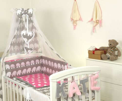 NAVY STARS BABY BEDDING SET COT or COT BED  3,4,5,7,8,9 PC MORE DESIGNS
