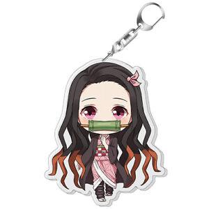 Demon Slayer Kimetsu no Yaiba Kamado Nezuko Key Chains Pendant Keychain Charms