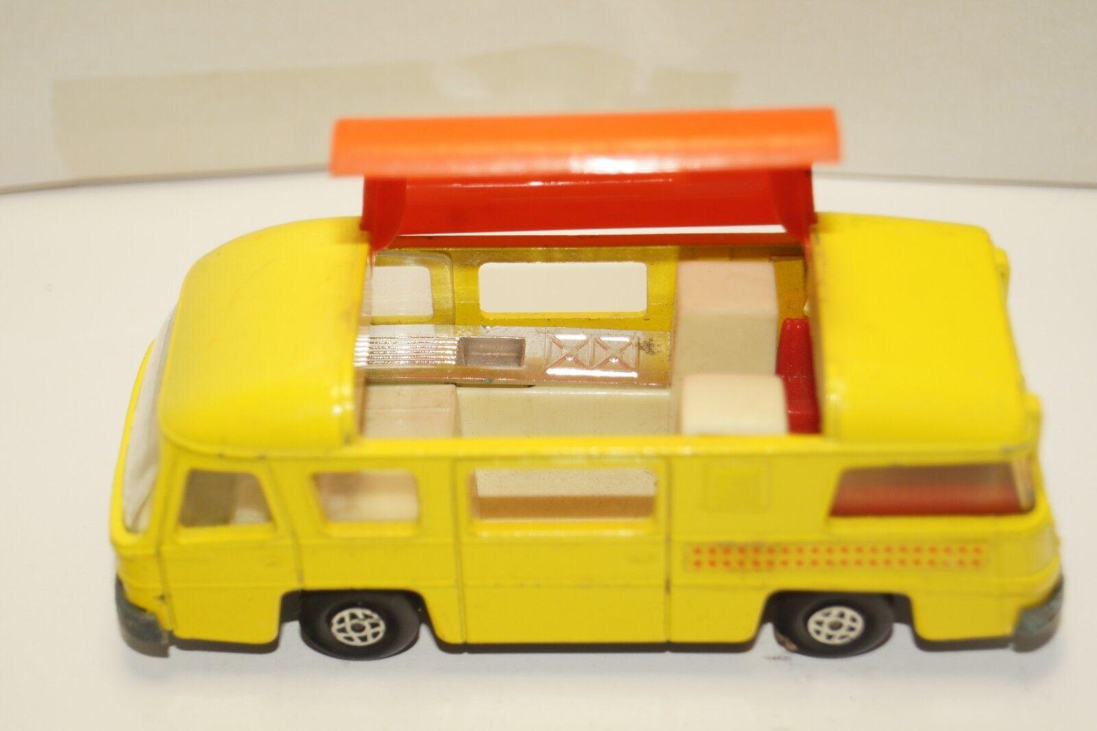 Original matchbox - speed kings - k-27 camping - cruiser - gelb - Orange - dach
