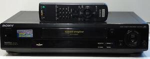 Videorecorder-Sony-6-head-HiFi-Stereo-gewartet-1-Jahr-Garantie-VHS-Videorekorder