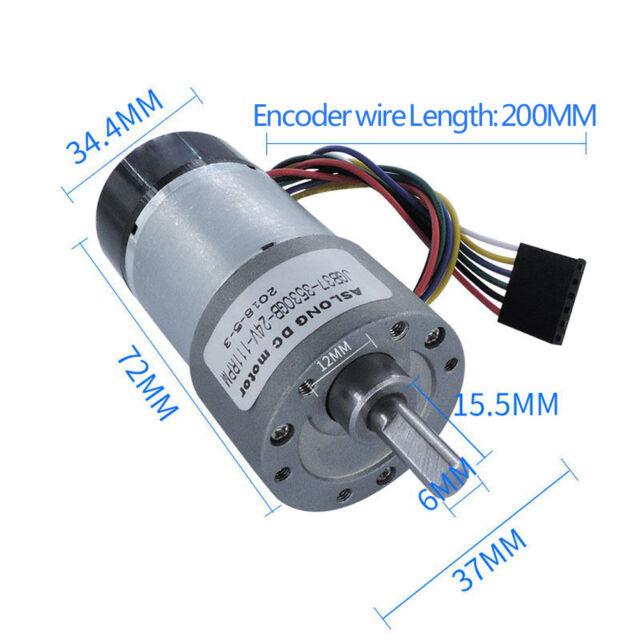 12V DC Worm Gear Motor 15 60 100 125 RPM high torque Reversible Worm Ratio:500