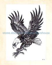"US Seller-temporary body tattoo eagle 8.25"" large arm tattoo temporary"