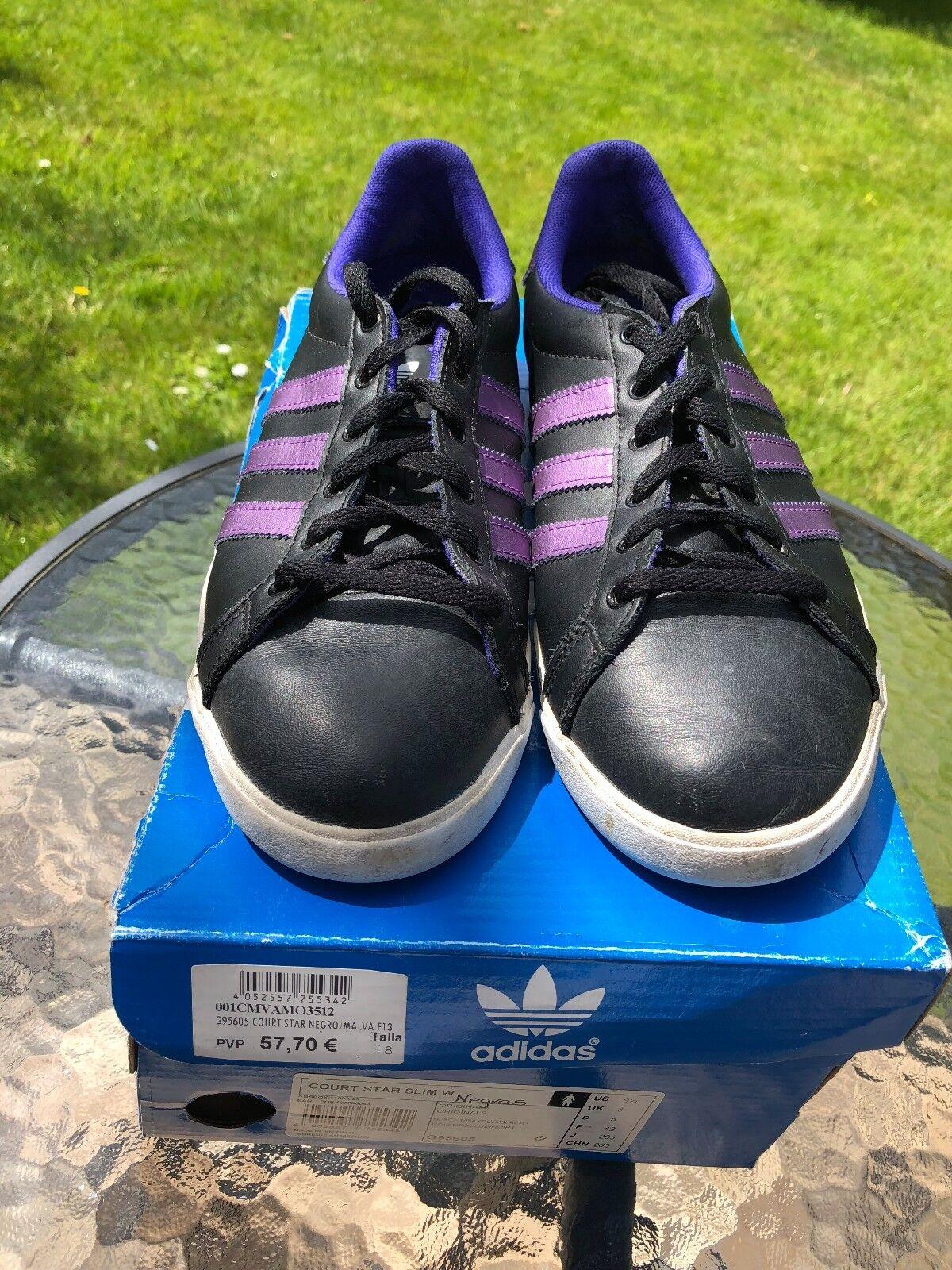 ADIDAS Womans ORIGINALS Womans ADIDAS COURT STAR SLIM W noir et violet taille 8 UK eb3ff5
