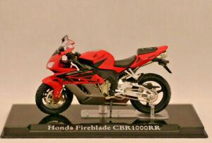 ** Honda Fireblade Cbr 1000 Rr ** Atlas Collection * Nouveau * échelle: 1:24 * état Modèle **-*maßstab: 1:24*standmodell** Fr-fr Afficher Le Titre D'origine