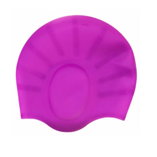 Adult Men Women Swim Cap Silicone Swimming Hat With Ear Pockets For Long Hair