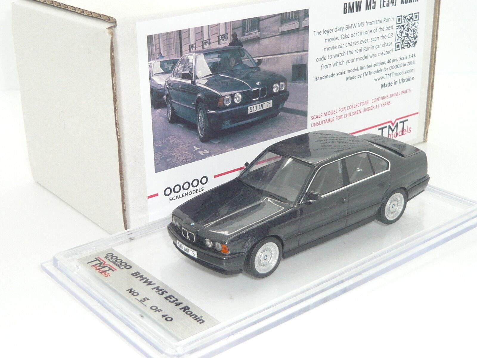 1 43 TMT Resina Mano BMW M5 3.6 E34 Ronin 1 40 Robert Rey Jean Reno nero