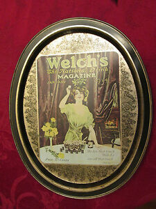 Welch-039-s-The-National-Drink-Metal-Tray-Vintage