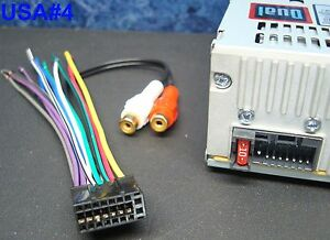 s l300 dual cd radio dvd player wire harness car audio stereo power plug