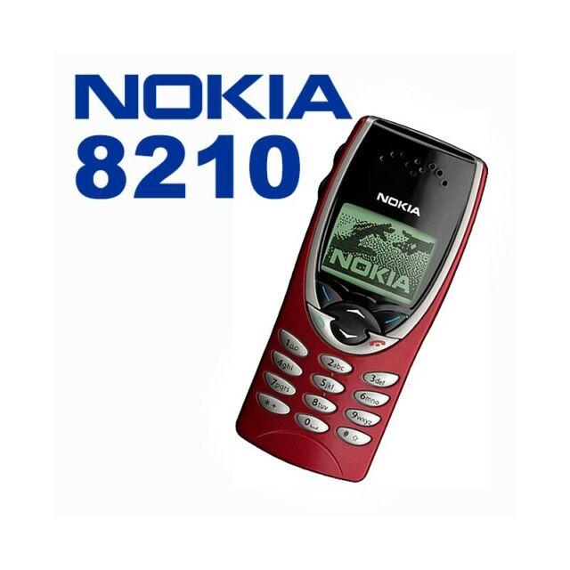Teléfono Móvil Nokia 8210 Rojo Gsm Ligero Pequeño Juegos Top Calidad
