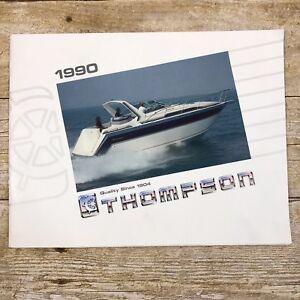 Vintage-Boat-Dealer-Sales-Brochure-Thompson-1990-Boating-Advertising-Daytona