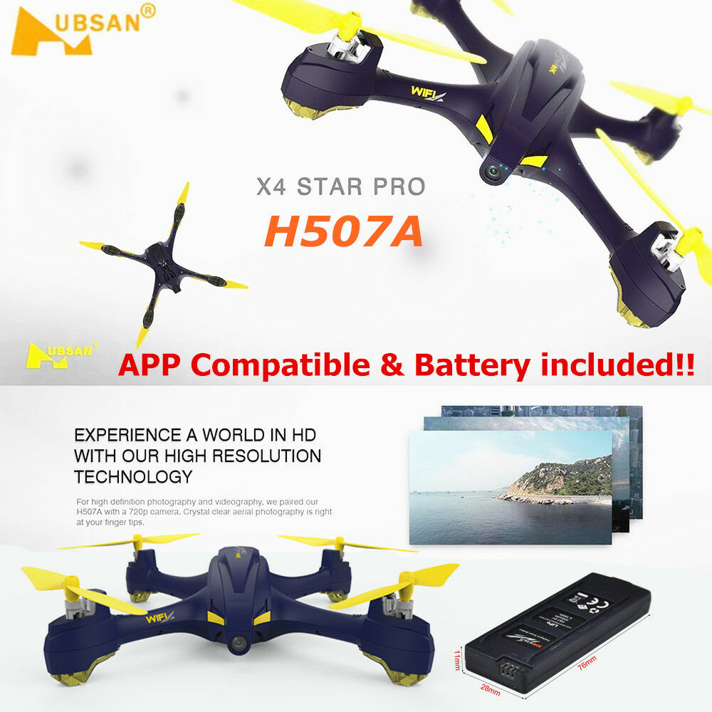 Hubsan h507a x4 fpv kopflosen rc quadcopter w   720p hd - cam mir nach gps - app rtf