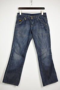 G-STAR RAW MEDIN PANT LOOSE Women's W30/L32 Blue Bootcut Jeans 35465-GS