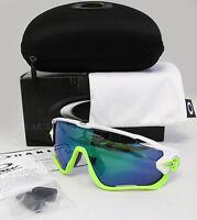 Oakley Jawbreaker Polished White / Jade Iridium Sunglasses Oo9290-03
