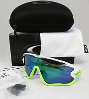 Oakley Jawbreaker Polished White / Jade Iridium Sunglasses Oo9290-03