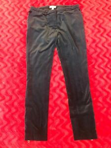Burberry-London-Dark-Blue-Velour-Pants-Size-M-L-US-8-UK-10