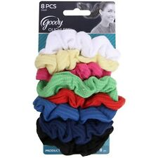 Goody Ouchless Ribbed Gentle Hair Scrunchies, Assorted Colors 8 ea