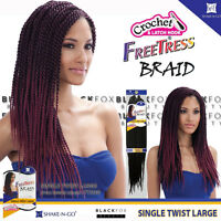 Freetress Braid Single Twist Large Bulk Crochet Senegal Braiding Hair