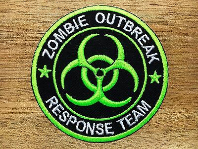 Biohazard Resident Symbol Evil Danger Warning Radiation Sign Iron on Patch #1