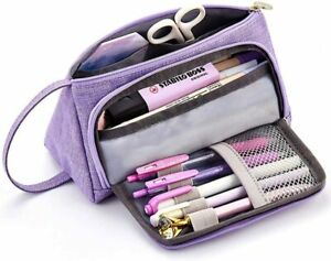 Simple-Canvas-Large-Capacity-Pen-Pencil-Case-Box-School-Stationery-Cosmetic-Bag