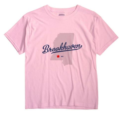 Brookhaven Mississippi MS T-Shirt Souvenir MAP